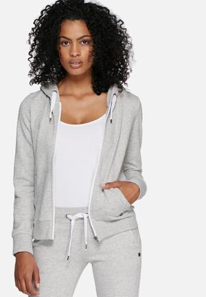 ONLY Finley Zip Hood Hoodies & Jackets Grey Melange