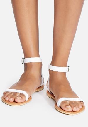 Dailyfriday Yolanda Leather Sandal White