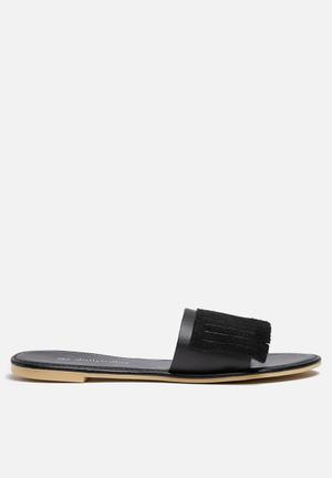 Dailyfriday Sandy Leather Sandal Black