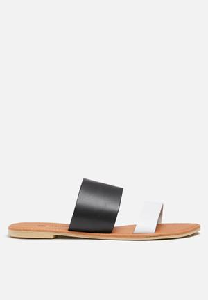 Dailyfriday Amanda Leather Sandal Black & White