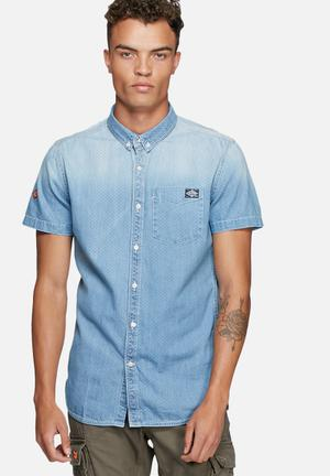 Superdry. London Loom Shirt Blue
