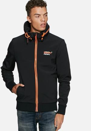 Superdry. Surf Converter Zip Hood Jackets Black / Orange