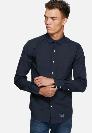 Superdry. Premium Cut Collar Shirt Black
