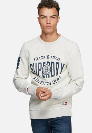 Superdry. Trackster Crew Hoodies & Sweatshirts 55% Cotton 45% Polyester