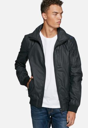 Superdry. Moody Bomber Jackets Black / Blue