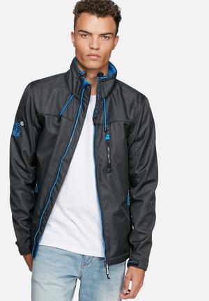 Superdry. Windtrekker Jackets Black & Blue