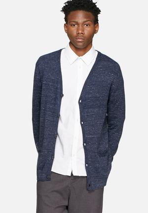 Jack & Jones Premium Duncan Cardigan Knitwear Navy