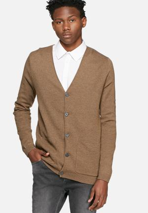 Selected Homme Austin Cardigan Knitwear Brown