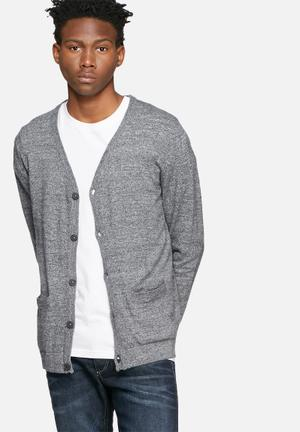 Jack & Jones Premium Duncan Cardigan Knitwear Grey