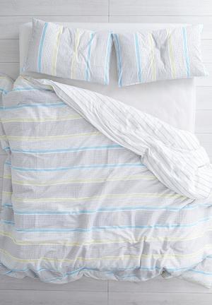 Linen House Carven Duvet Set Bedding 100% Cotton