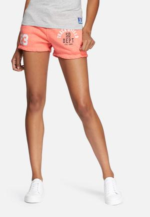 Superdry. Trackster Shorts Coral