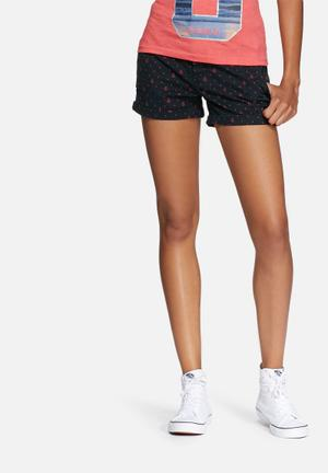 Superdry. Printed Boy Shorts Navy / Red