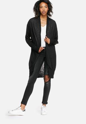 Noisy May Crow Long Knit Cardigan Knitwear Black