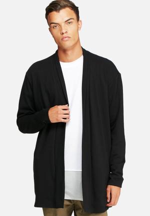 Basicthread Loopback Kimono Cardigan Hoodies & Sweatshirts Black