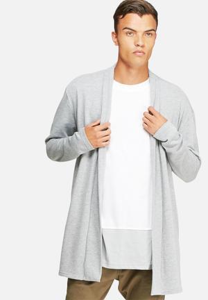 Basicthread Loopback Kimono Cardigan Hoodies & Sweatshirts Grey