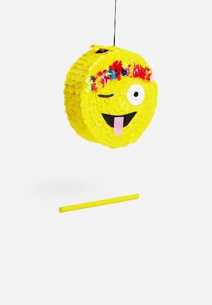 Sixth Floor Festival Emoji Pinata Partyware Paper Mache & Tissue Paper