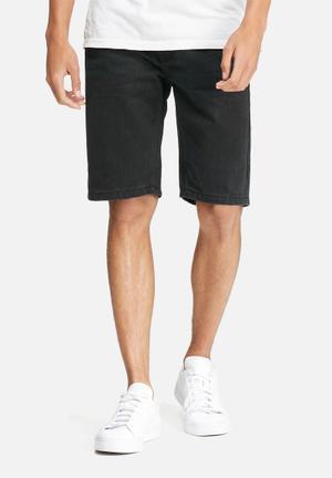 Bellfield Bacchanal Denim Shorts Black
