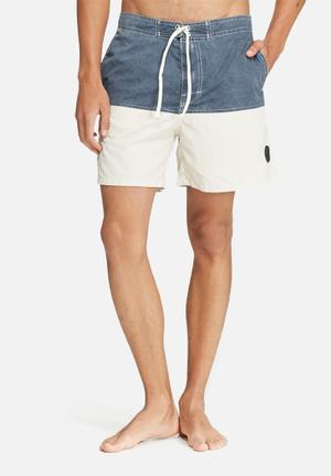 Bellfield Sefton Swimshorts Swimwear Navy & Beige