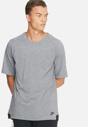 Nike Bonded Knit Tee T-Shirts Grey & Black