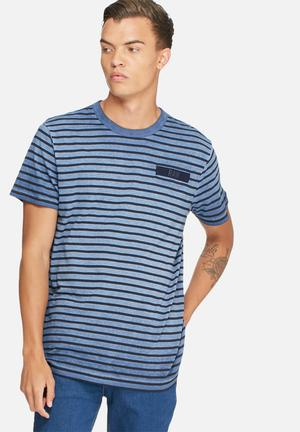 G-Star RAW Rancis Stripe Tee T-Shirts & Vests Blue & Black