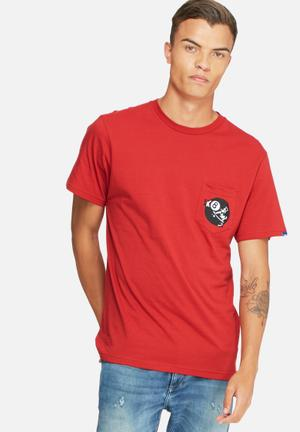 Vans Sk8 Ball Tee T-Shirts & Vests Red, Black & White