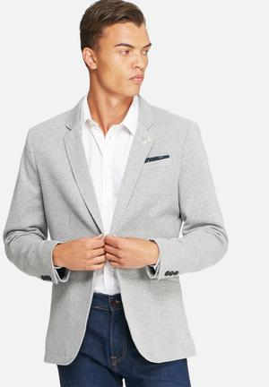 Selected Homme Paulo Dot Blazer Jackets & Coats Grey