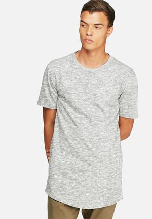 Basicthread Loopback Curved Hem Tee T-Shirts & Vests Grey