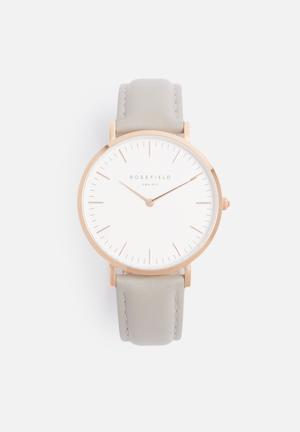 ROSEFIELD Bowery Watches Grey & Rose Gold