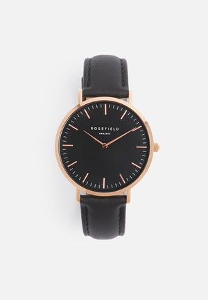 ROSEFIELD Bowery Watches Rose Gold & Black