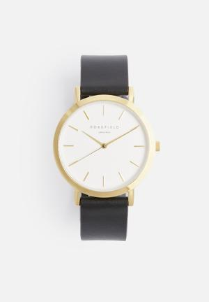 ROSEFIELD Gramercy Watches Gold & Black