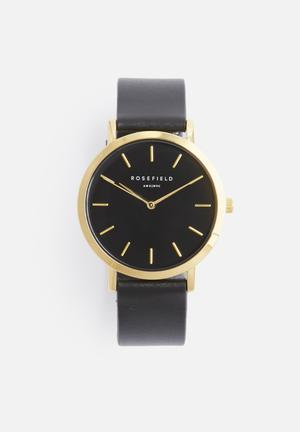 ROSEFIELD Gramercy Watches Black & Gold