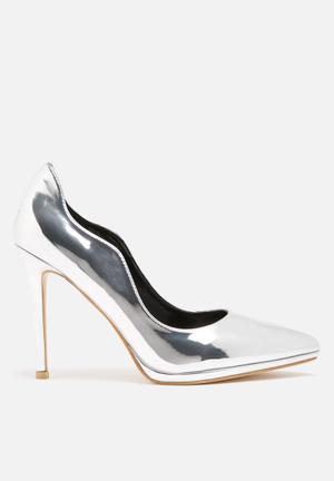 Dailyfriday Metal Heels Silver