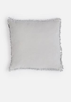 Linen House Cuba Cushion Silver