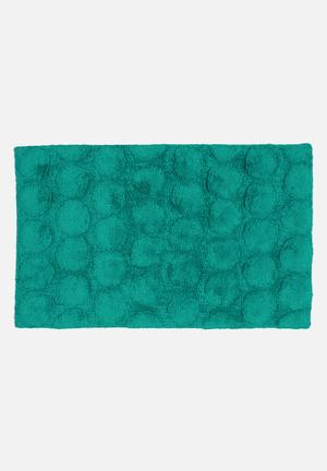 Linen House Dot Bath Mat Cotton With Rubber Backing