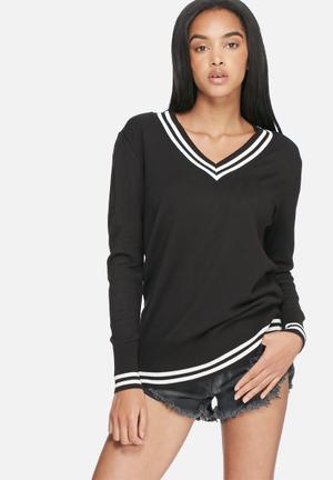 Dailyfriday Kirsten Cricket Knit Knitwear Black & White