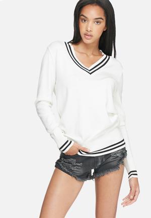 Dailyfriday Kirsten Cricket Knit Knitwear White & Black