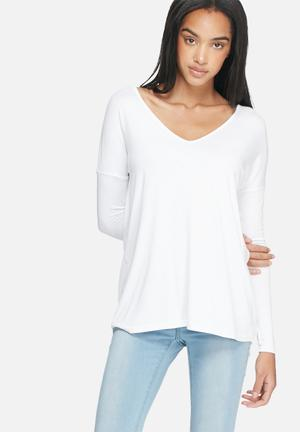Dailyfriday Basic V-neck Top T-Shirts, Vests & Camis White