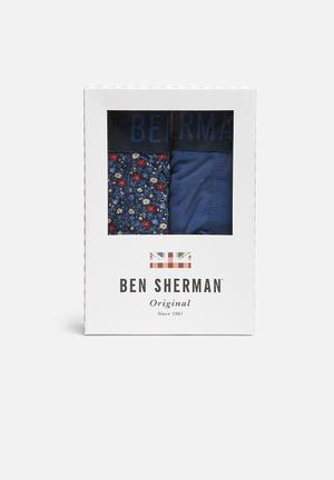 Ben Sherman 2 Pack Trunks Underwear Navy / Blue / Red