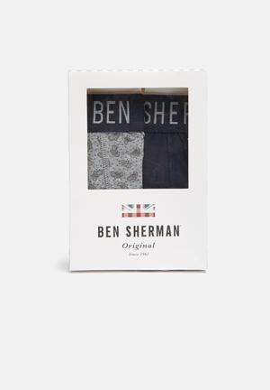 Ben Sherman 2 Pack Trunks Underwear Grey / Navy