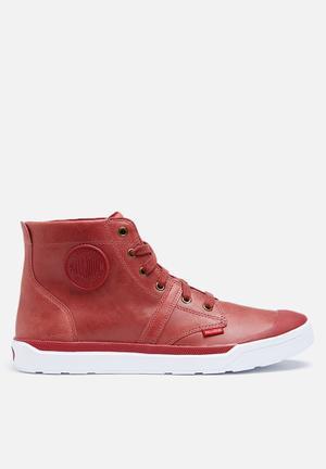 Palladium Pallarue Hi Boots Red