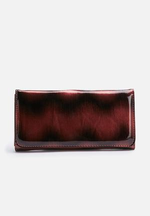 Dolce Vita Chevron Purse Red & Black