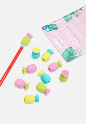 Mustard  Totally Tropical Pineapple Toppers Gifting & Stationery Eraser