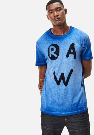 G-Star RAW Eshje Tee T-Shirts & Vests Blue