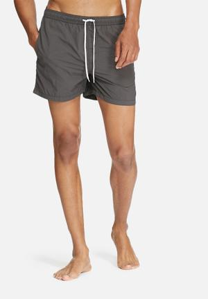 Jack & Jones Jeans Intelligence Malibu Swim Shorts Swimwear Charcoal