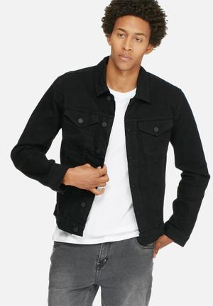 Only & Sons Chris Camp Jacket Black
