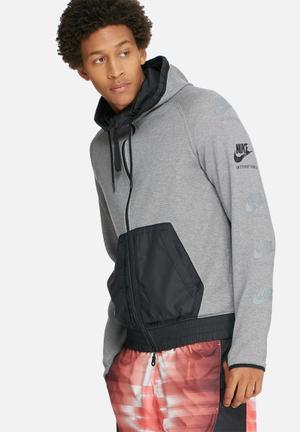 Nike International Hoodie Hoodies & Sweatshirts Grey & Black