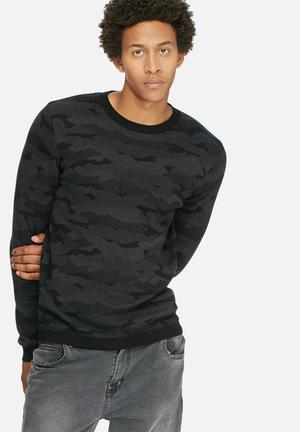 Jack & Jones CORE Military Knit Knitwear Black