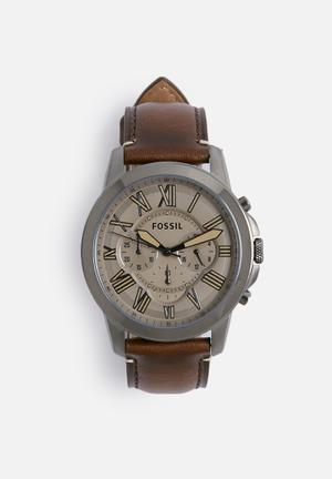 Fossil Grant Watches Dark Brown
