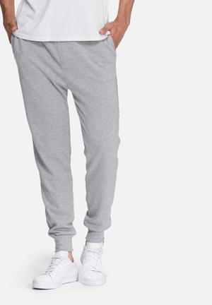 Basicthread Neil Slim Sweat Pants Sweatpants & Shorts Grey Melange