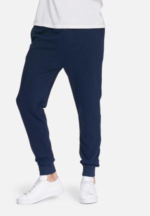 Basicthread Neil Slim Sweat Pants Sweatpants & Shorts Navy